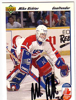 Autographed Mike Richter