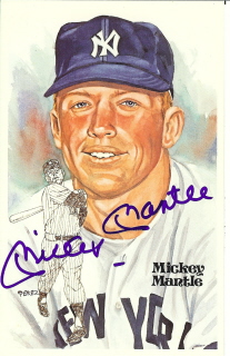 Autographed Mickey Mantle
