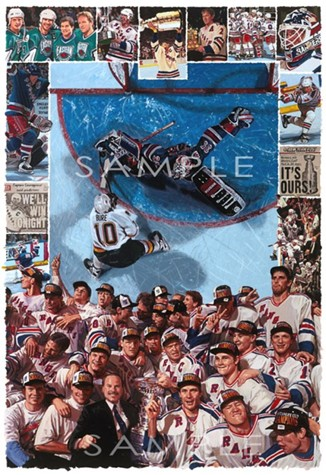 Autographed 1994 Stanley Cup Champions New York Rangers