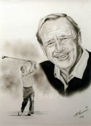 Autographed Arnold Palmer FINE ART GICLEE