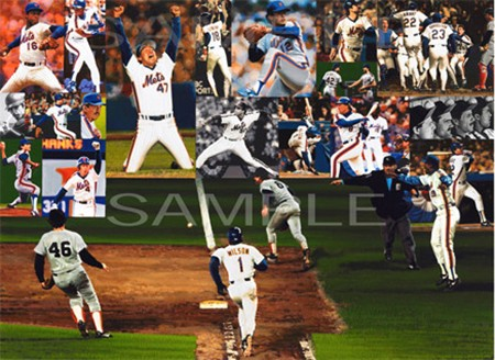 Autographed  1986 Miracle New York Mets Lithograph