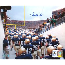 Autographed  Charlie Weis