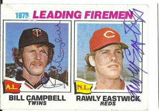 Autographed Bill Campbell & Rawley Eastwick