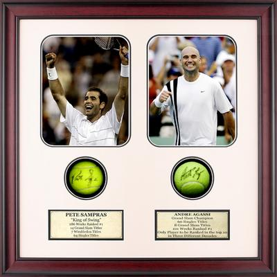 Autographed Andre Agassi & Pete Sampras