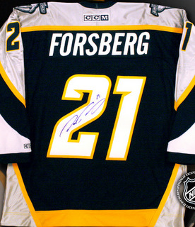 uk availability 85027 103a2 Peter Forsberg Autographed Jersey