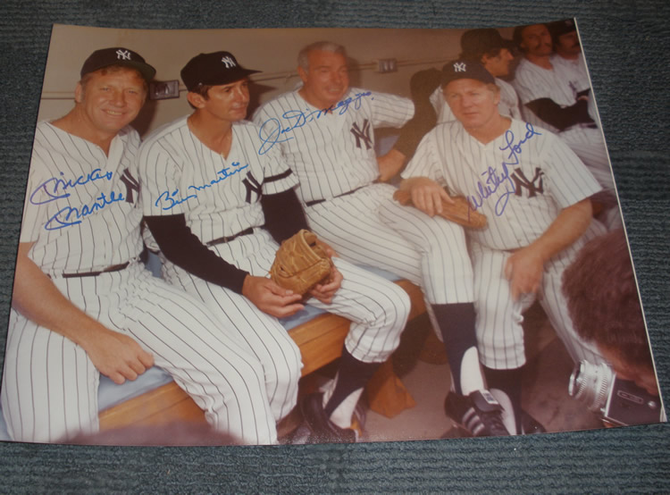 Autographed Old Timers Day Yankee Legends