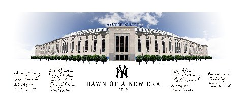 Autographed Dawn of a New Era 09 Yankees Team Singed