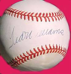 Autographed Ted Williams