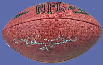 purchase cheap 1f3a5 11857 Johnny Unitas Autographed Football