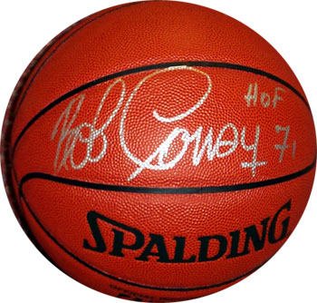 Autographed Bob Cousy