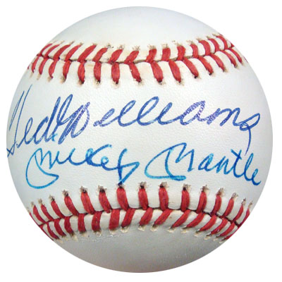 Autographed Ted Williams & Mickey Mantle