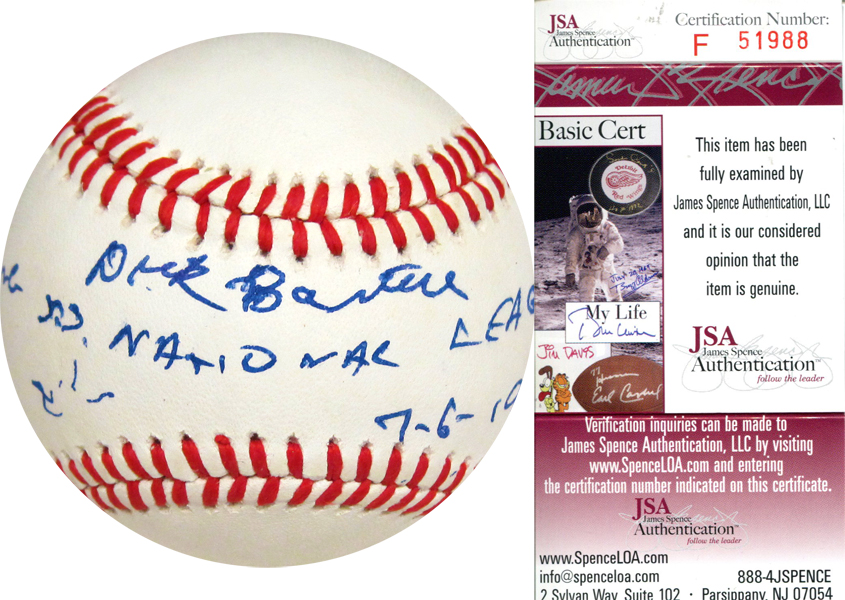 Autographed Dick Bartell
