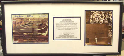 Autographed Polo Grounds -Willie Mays Catch