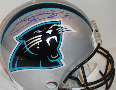 best sneakers d0994 b929b Steve Smith (Carolina Panthers) Autographed Helmet
