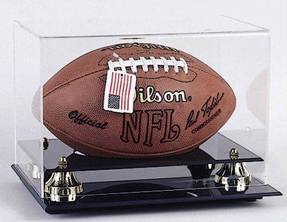 Autographed Football  Display case cube