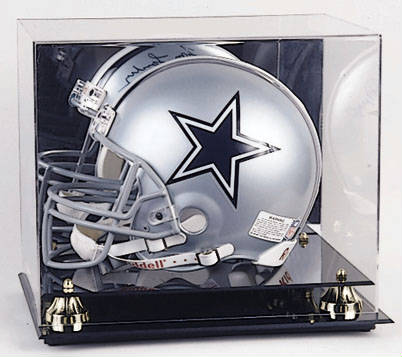 Autographed Football Helmet Display Case cube