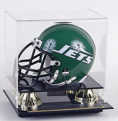 Autographed Football Mini-Helmet Display Case Cube