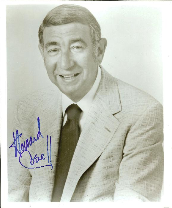 Autographed Howard Cosell