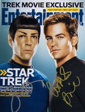 Autographed Chris Pine and Zachary Quinto