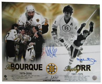 Autographed Bobby Orr/ Ray Bourque