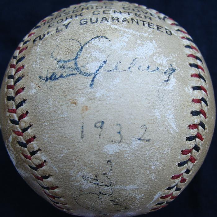 Autographed Babe Ruth & Lou Gehrig