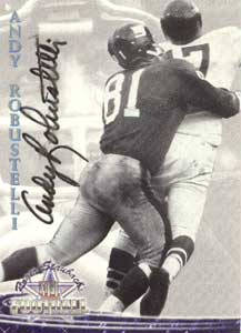 Autographed Andy Robustelli