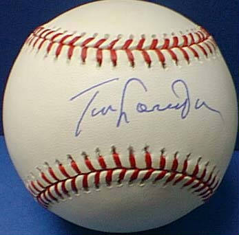 Autographed Tommy LaSorda