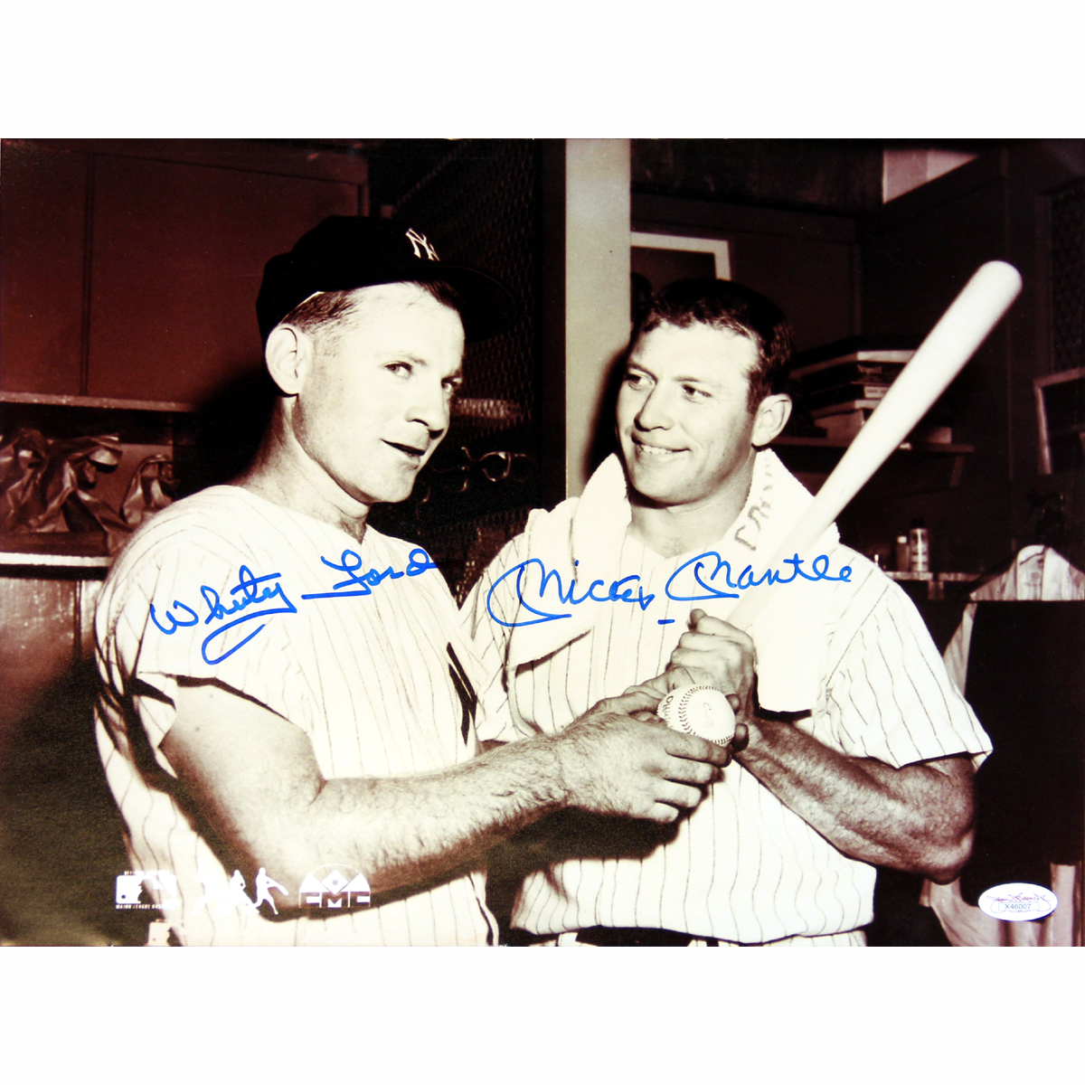 Autographed Mickey Mantle & Whitey Ford