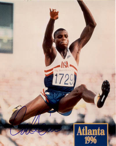 Autographed Carl Lewis