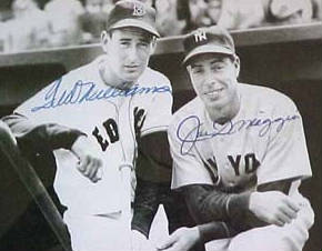 Autographed Joe Dimaggio & Ted Williams