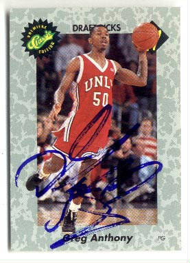 Autographed Greg Anthony