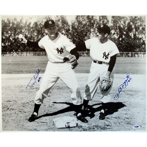 Autographed Tony Kubek & Phil Rizzuto