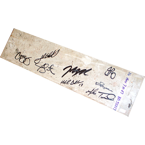 Autographed 2007 Pitching Staff Signed Red Sox Game Used Pitching Rubber Main Field 6-26 thru 7-10-2007