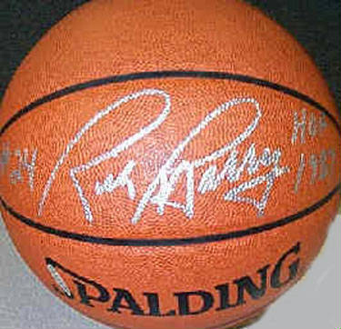 Autographed Rick Barry