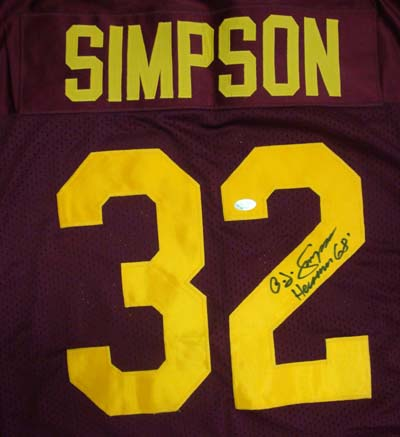 new style f5d84 5a535 O.J. Simpson Autographed Jersey