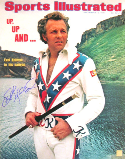 Autographed Evel Knievel