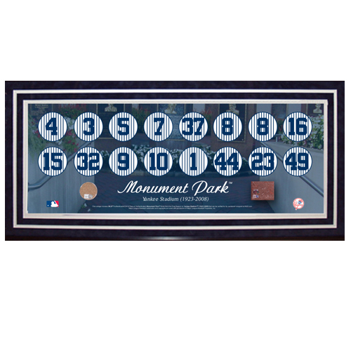 Autographed New York Yankees Monument Park Retired Numbers
