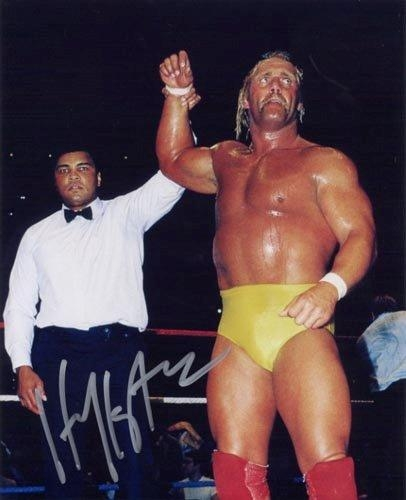 Autographed Hulk Hogan - With Ali - Autographed 8x10 Photograph