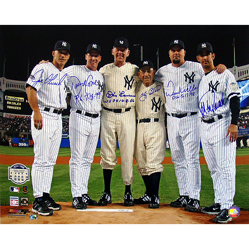 Autographed New York Yankees Perfect Game Pitchers & Catchers