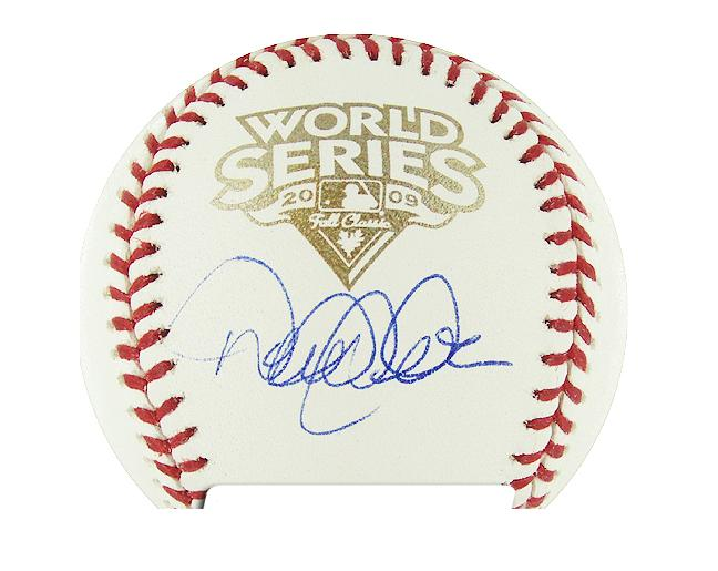 Autographed Derek Jeter 2009 World Series