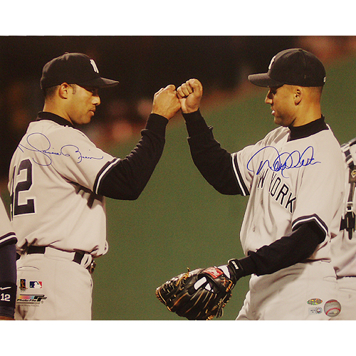 Autographed Derek Jeter & Mariano Rivera Dual Signed