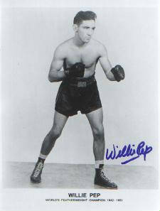 Autographed Willie Pep