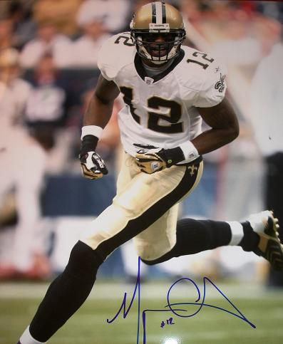 db9582a34 Marques Colston Autographed 8x10