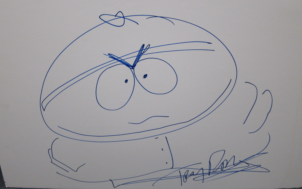Eric Cartman South Park Sketch Hand Drawn & Signed