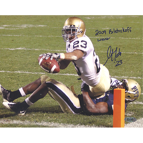 Autographed Golden Tate Notre Dame Inscribed
