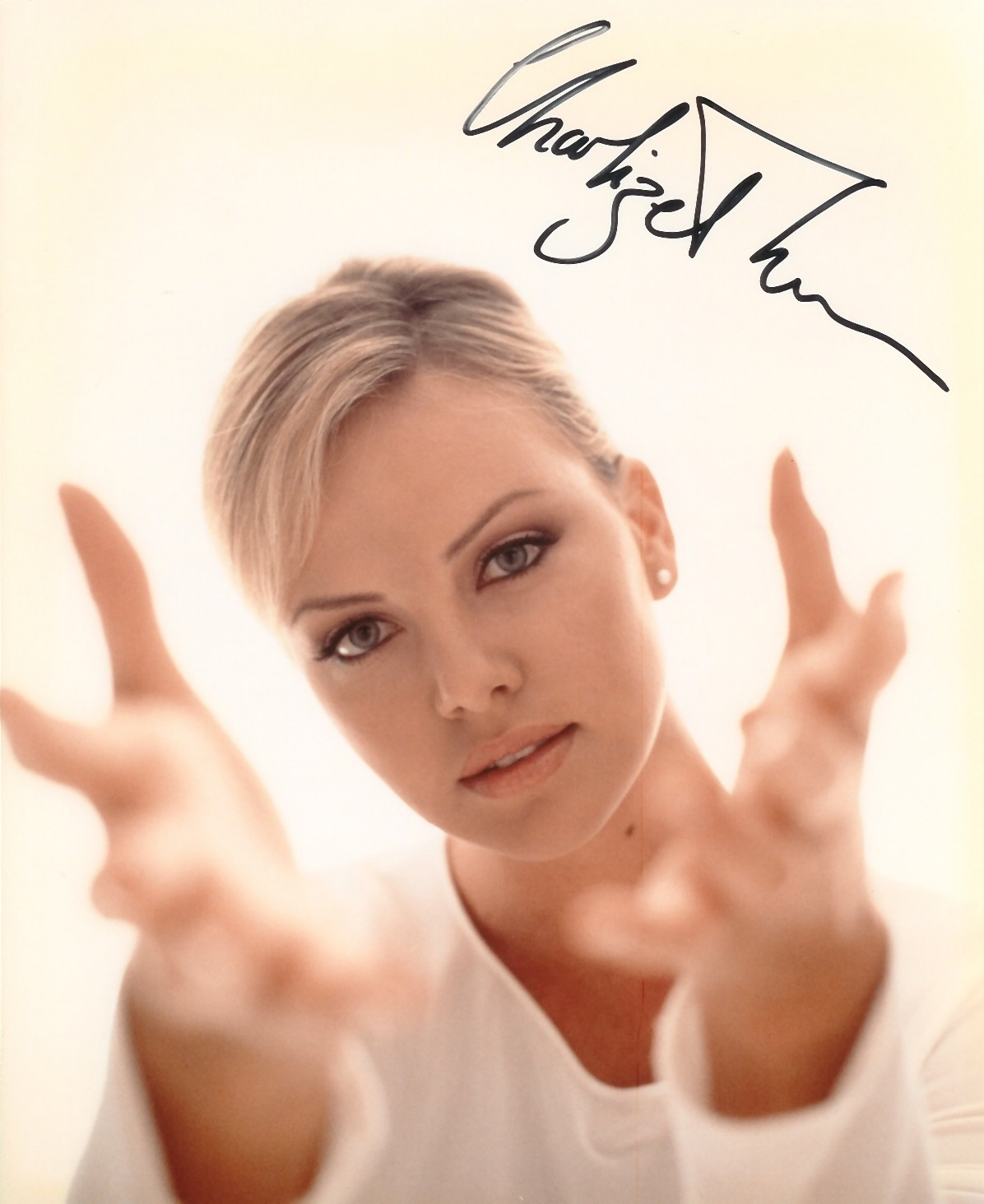 Autographed Charlize Theron