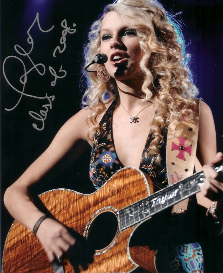 Autographed Taylor Swift