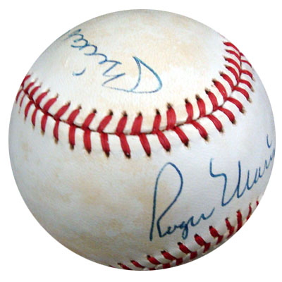 Autographed Mickey Mantle & Roger Maris