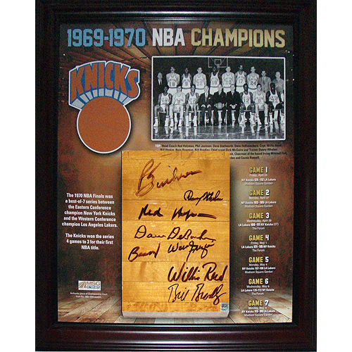 Autographed 1969=70 New york Knicks