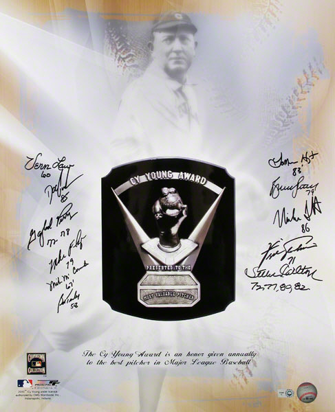 Autographed Cy Young Award Winners